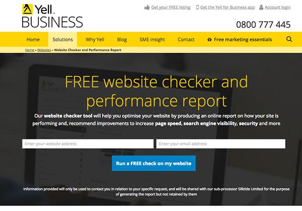 Yell free website checker