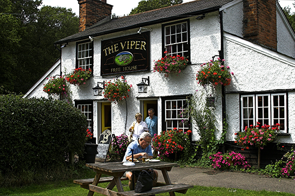 English country pub in summer
