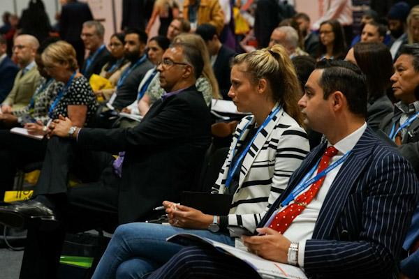 The Business Show delegates listen to a speaker presentation