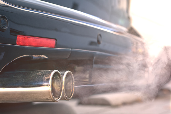 Carbon emissions from an exhaust